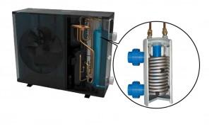 Evaporateur pompe à chaleur d'une piscine